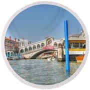 Venice Channelssssss Round Beach Towel