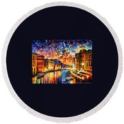 Venice - Grand Canal Round Beach Towel