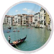 Venice In Colors Round Beach Towel