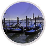 Venice Is A Magical Place Round Beach Towel