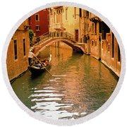 Venice ,italy. Round Beach Towel