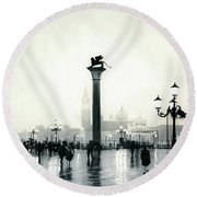 Venice October Round Beach Towel