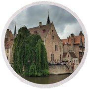 Venice Of The North Round Beach Towel