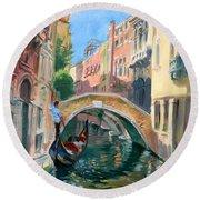 Venice Ponte Widmann Round Beach Towel