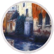 Venice Reflections Round Beach Towel