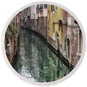 Venice - Reflections Round Beach Towel