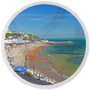 Ventnor Beach And Seafront Round Beach Towel
