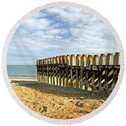 Ventnor Beach Groyne Round Beach Towel