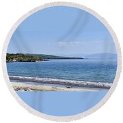 Ventry Harbor On The Dingle Peninsula Ireland Round Beach Towel