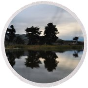 Ventura California Coast Estuary Round Beach Towel