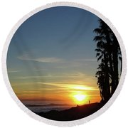 Ventura Sunset Round Beach Towel