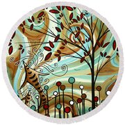 Venturing Out By Madart Round Beach Towel