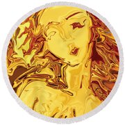 Venus 2008 Round Beach Towel