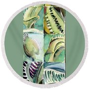 Venus Fly Trap Round Beach Towel