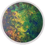 Venus Lunar Surface Round Beach Towel