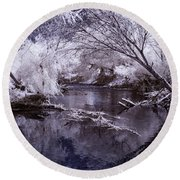 Verde Spring Reflections Round Beach Towel