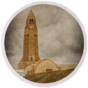 Verdun, France - Ossuary Tower Round Beach Towel by Mark Forte