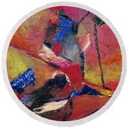 Verily Vivacious Round Beach Towel