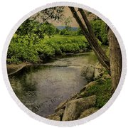 Vermont And Rural Beauty Round Beach Towel
