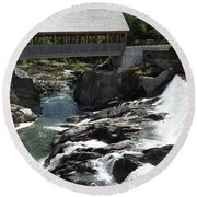 Vermont Covered Bridge Round Beach Towel