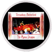 Vernadean Posterized - The Mama Dragon Round Beach Towel