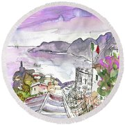 Vernazza In Italy 03 Round Beach Towel