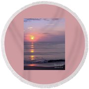 Vero - Beach -  Sunrise Round Beach Towel