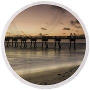 Vero Beach Sunrise Round Beach Towel