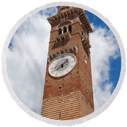 Verona Italy - Beautiful Torre Dei Lamberti Round Beach Towel