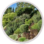 Veronica Spicata Royal Candles II Round Beach Towel