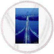 Verrazano Bridge, Ny Round Beach Towel