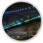 Verrazano-narrows Bridge Round Beach Towel