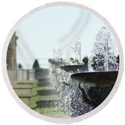 Versailles Fountains Round Beach Towel