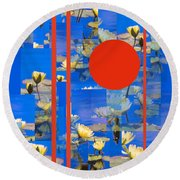 Vertical Horizon Round Beach Towel