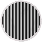 Vertical Stripes In Black And White Round Beach Towel