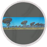 Very Large Array Side View Round Beach Towel