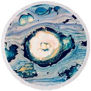 Occator On Ceres In My Eyes Round Beach Towel