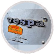Vespa Round Beach Towel