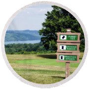 Vesper Hills Golf Club Tully New York 1st Tee Signage Round Beach Towel