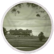 Vesper Hills Golf Club Tully New York Antique 02 Round Beach Towel
