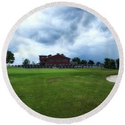 Vesper Hills Golf Club Tully New York Before The Storm Round Beach Towel