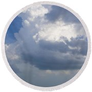 Vessels In The Sky Round Beach Towel