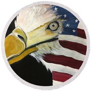 Veteran's Day Eagle Round Beach Towel