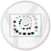 Vexer 2 - Use Red-cyan 3d Glasses Round Beach Towel
