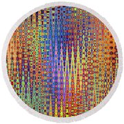 Vibrant Christmastree Forest Round Beach Towel