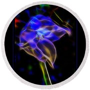 Vibrant Orchid Round Beach Towel