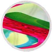 Vibrant Pattern Round Beach Towel