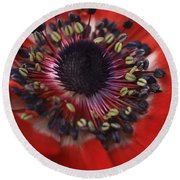 Vibrant Red Round Beach Towel