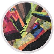 Vibrations Of Color Round Beach Towel