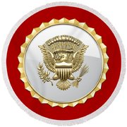 Vice Presidential Service Badge Round Beach Towel